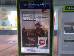 Authentizität als Werbemotiv. Zigarettenwerbung in Hannover-Linden