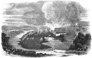 """Johannes Frisch - Aus der Menschenheimath. Vierter Brief. Die Vulkane in Die Gartenlaube, 1853 (""""The Garden Arbor""""), S. 36-38  (http://commons.wikimedia.org/wiki/File%3ADie_Gartenlaube_(1853)_b_037.jpg)"""